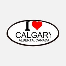 I Love Calgary Alberta Canada Patches