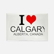 I Love Calgary Alberta Canada Magnets