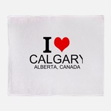 I Love Calgary Alberta Canada Throw Blanket