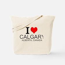 I Love Calgary Alberta Canada Tote Bag