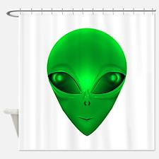 LITTLE GREEN MAN Shower Curtain