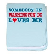 Cute Washington dc baby blanket