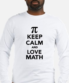 Keep calm and love Math Pi Long Sleeve T-Shirt