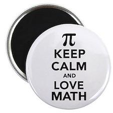 Keep calm and love Math Pi Magnet
