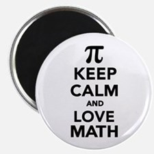 Keep calm and love Math Pi Magnet