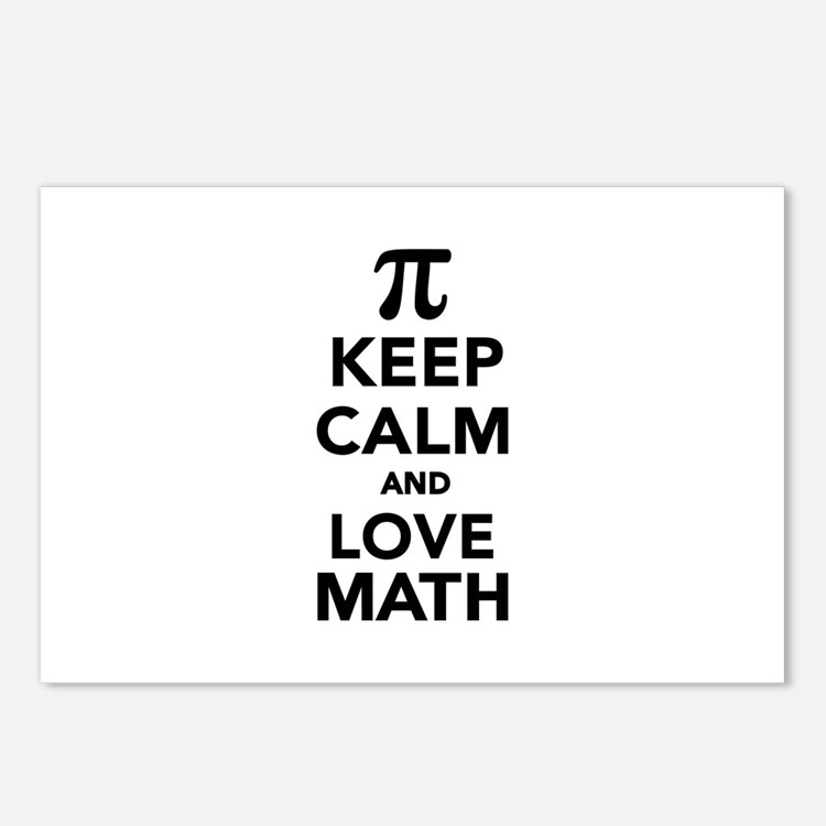 Keep calm and love Math P Postcards (Package of 8)