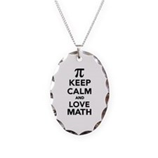 Keep calm and love Math Pi Necklace