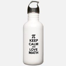 Keep calm and love Mat Water Bottle
