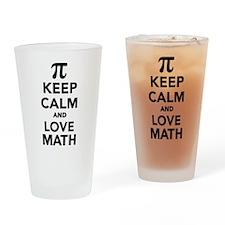 Keep calm and love Math Pi Drinking Glass