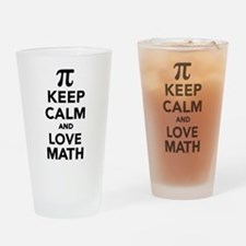 Keep calm and love Math Pi Drinking Glass