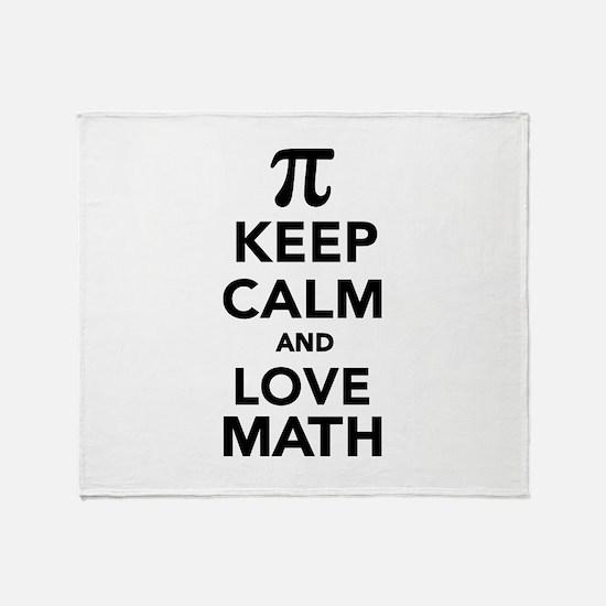 Keep calm and love Math Pi Throw Blanket