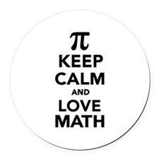 Keep calm and love Math Pi Round Car Magnet