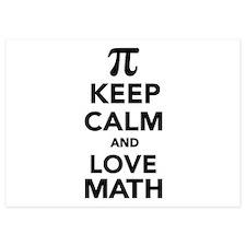 Keep calm and love Math Pi Invitations