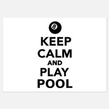 Keep calm and play pool billiards Invitations