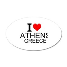 I Love Athens Greece Wall Decal