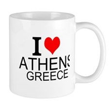 I Love Athens Greece Mugs