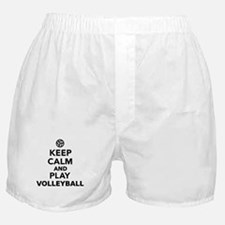 Keep calm and play Volleyball Boxer Shorts