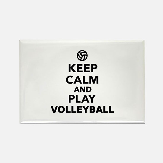 Keep calm and play Voll Rectangle Magnet (10 pack)