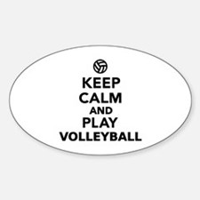 Keep calm and play Volleyball Decal