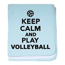 Keep calm and play Volleyball baby blanket