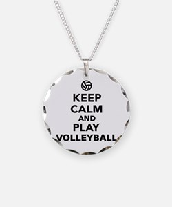 Keep calm and play Volleybal Necklace