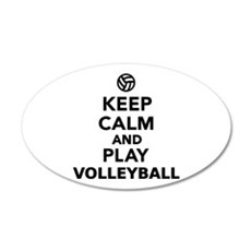 Keep calm and play Volleybal Wall Decal