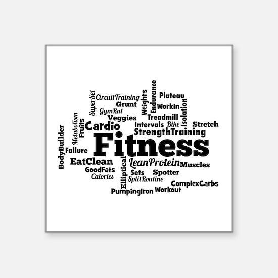 Fitness Word Cloud Sticker