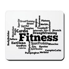 Fitness Word Cloud Mousepad