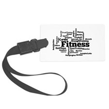 Fitness Word Cloud Luggage Tag