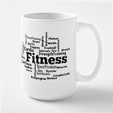 Fitness Word Cloud Mugs