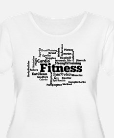 Fitness Word Cloud Plus Size T-Shirt