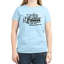 Fitness Word Cloud T-Shirt
