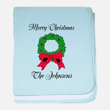 Personalized Christmas wishes baby blanket
