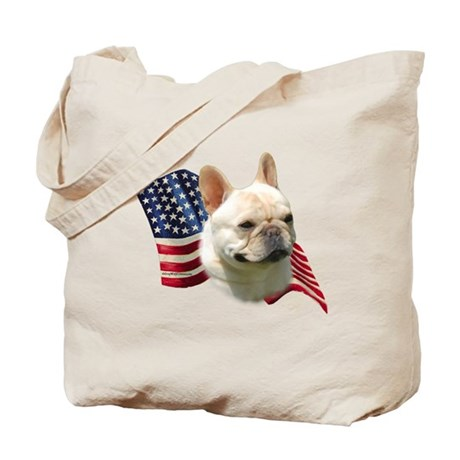Frenchie Flag Tote Bag