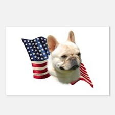 Frenchie Flag Postcards (Package of 8)
