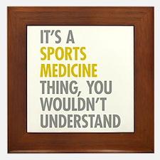 Sports Medicine Thing Framed Tile