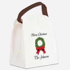 Personalized Christmas wishes Canvas Lunch Bag