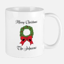 Personalized Merry Christmas Greeting Mugs