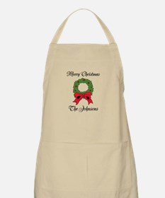 Personalized Merry Christmas Wishes Kitchen Apron