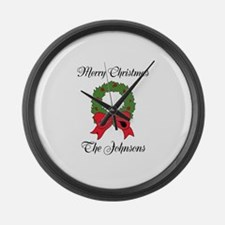 Personalized Christmas wishes Large Wall Clock