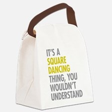 Square Dancing Thing Canvas Lunch Bag