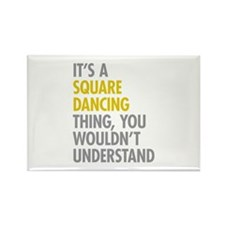 Square Dancing Thing Rectangle Magnet