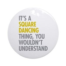 Square Dancing Thing Ornament (Round)