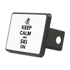 Keep calm and Ski on cross Hitch Cover