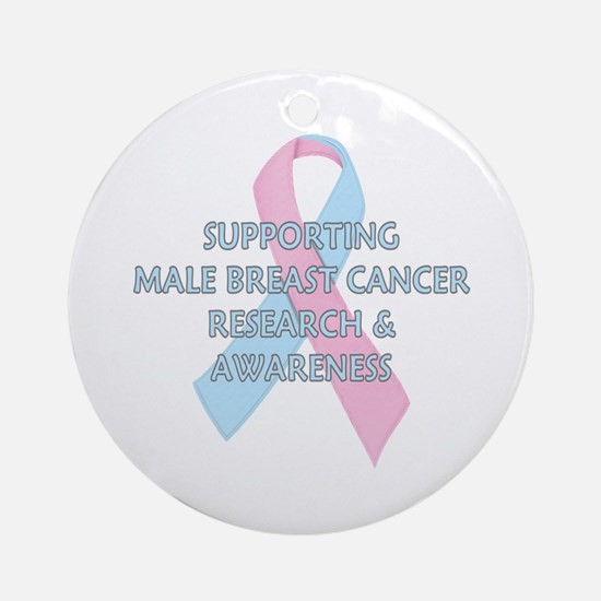...Male Breast Cancer... Ornament (Round)