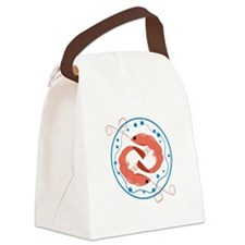 Two Shrimp Canvas Lunch Bag