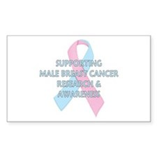 ...Male Breast Cancer... Rectangle Decal