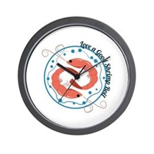 Love A Good Shrimp Boil Wall Clock