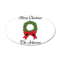 Personalized Christmas wishes Wall Decal