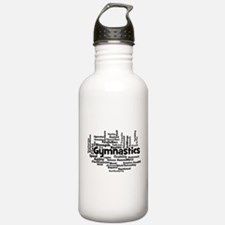 Gymnastics Word Cloud Water Bottle